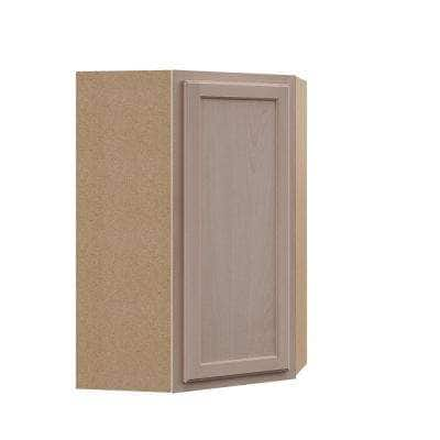 Hampton Assembled 24x36x12 in. Wall Diagonal Cabinet in Unfinished Beech
