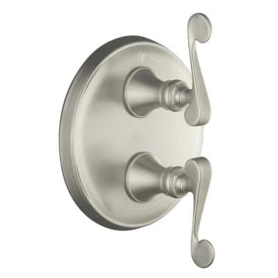 Revival 2-Handle Valve Trim Kit in Vibrant Brushed Nickel (Valve Not Included)