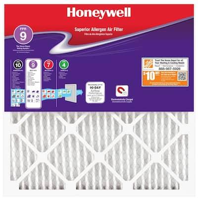 16 x 16 x 1 Superior Allergen Pleated MERV 11 - FPR 9 Air Filter
