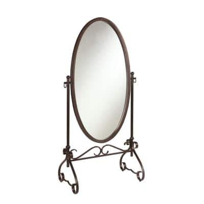 Oversized Antique Brown Metal Classic Mirror (63.00 in. H X 26.00 in. W)