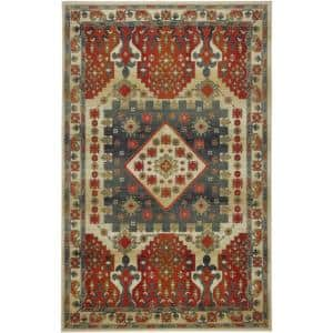 Brickwood Red 8 ft. x 10 ft. Tribal Area Rug