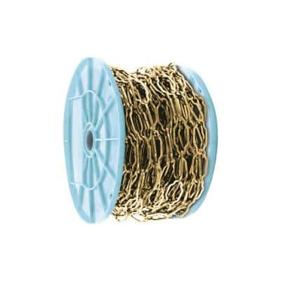 100 ft. Florentine Brass Decorative Chain Reeled