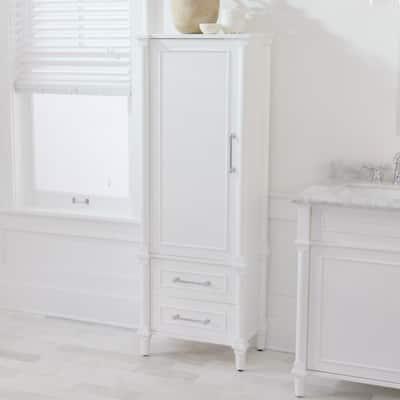 Aberdeen 20-7/10 in. W x 60 in. H x 14-2/5 in. D Bathroom Linen Storage Cabinet in White