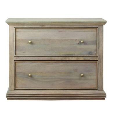 Aldridge Antique Grey File Cabinet