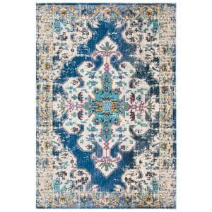 Madison Navy/Gray 6 ft. x 9 ft. Area Rug