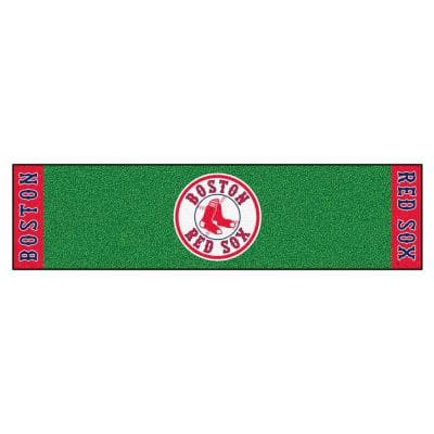 MLB Boston Red Sox 1 ft. 6 in. x 6 ft. Indoor 1-Hole Golf Practice Putting Green