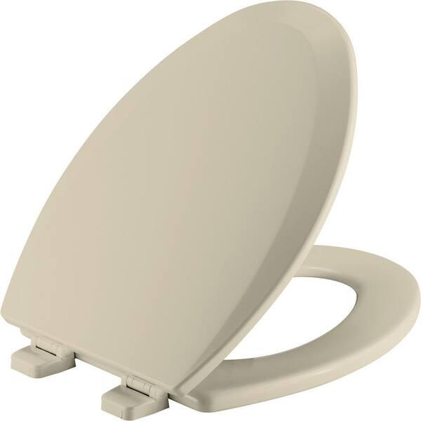 Bemis Elongated Closed Front Toilet Seat In Bone 1500ttt 006 The Home Depot