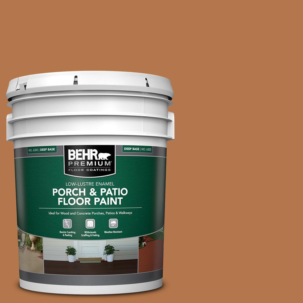 5 gal. #SC-533 Cedar Naturaltone Low-Lustre Enamel Interior/Exterior Porch and Patio Floor Paint