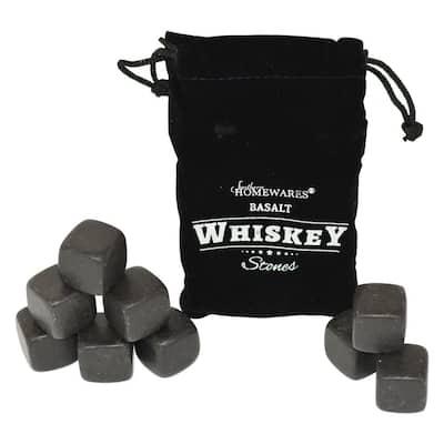 9-Piece Basalt Whiskey Stones Set