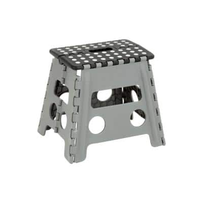 1-Step Plastic Folding Step Stool, 200 lbs. Load Capacity