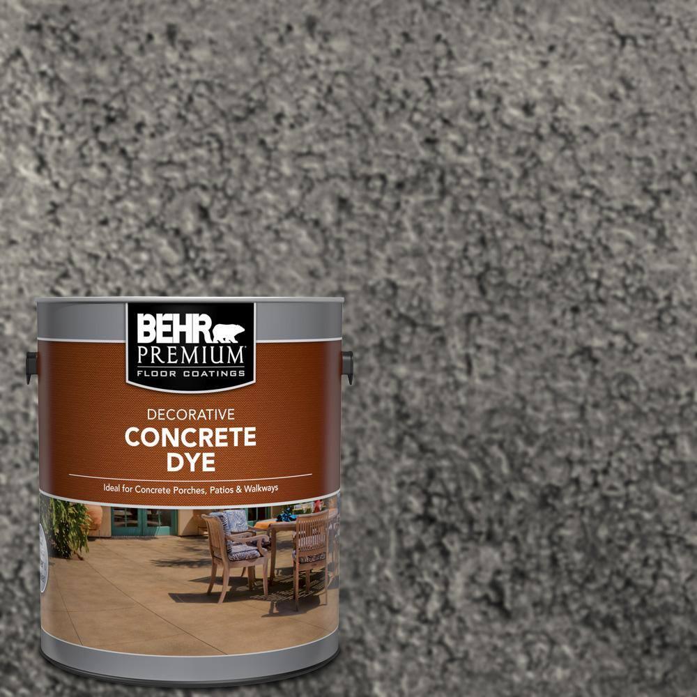 BEHR Premium 1 gal. #CD-828 Arctic Black Interior/Exterior Concrete Dye