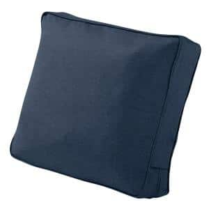 Montlake 21 in. W x 22 in. H x 4 in. T Outdoor Lounge Chair/Loveseat Back Cushion in Heather Indigo