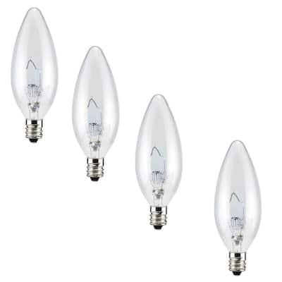 25-Watt Double Life B10 Incandescent Light Bulb (4-Pack)