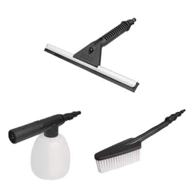 Hydroshot Household Cleaning Kit Brush, Soap Dispenser and Squeegee