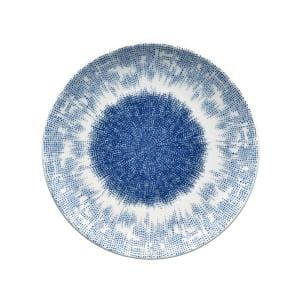 Aozora Blue/White Porcelain Coupe Salad Plate 8-1/4 in.