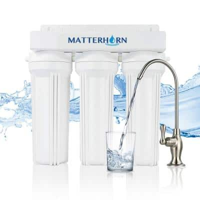 3-Stage High Performance Under the Counter System with Chlorine Removal