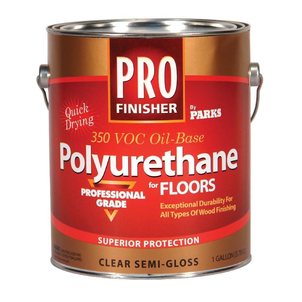 Pro Finisher 1 gal. Clear Semi-Gloss 350 VOC Oil-Based Polyurethane for Floors (4-Pack)