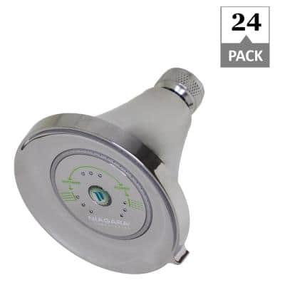 Earth Luxe 3-Spray 3.35 in. Fixed Mount Round 1.25 GPM Showerhead in Chrome (24-Pack)
