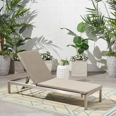 Cape Coral 25.25 in. x 2 in. Outdoor Lounge Chair Cushion in Khaki