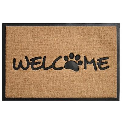 Welcome Paw Door Mat 24 in. x 36 in.
