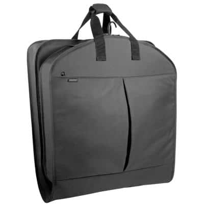 40 in. Black Garment Bag with Accessory Pockets