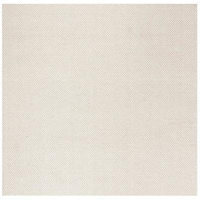 Natura Ivory 6 ft. x 6 ft. Square Solid Area Rug