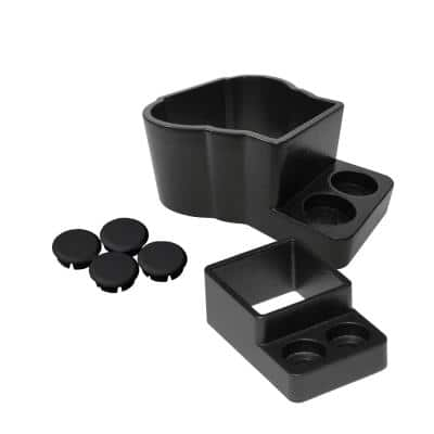Straight Wall Mount Attach Kit in Black