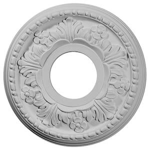 11-7/8'' x 3-5/8'' I.D. x 7/8'' Helene Urethane Ceiling Medallion (Fits Canopies upto 5-1/4''), Primed White