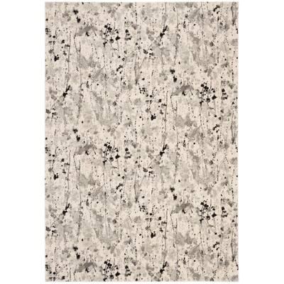 Evoke Ivory/Gray 3 ft. x 5 ft. Abstract Area Rug