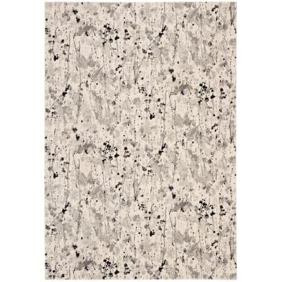 Evoke Ivory/Gray 5 ft. x 8 ft. Abstract Area Rug