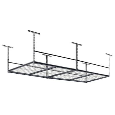 SilverVein Adjustable Height Wire Overhead Garage Storage Rack (96 in W x 48 in D)