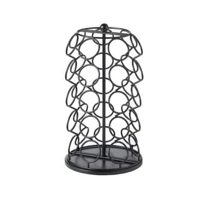 7 in. W x 13 in. H Black Steel Storage Carousel for 35 K-Cup Packs