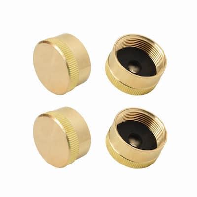 4-Piece Universal Solid Brass 1 lb. Propane Bottle Cap Gas Cylinder