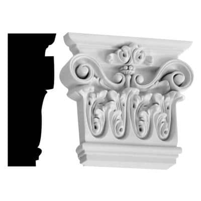 2-3/4 in. x 7-1/4 in. x 8-3/8 in. Primed Polyurethane Renaissance Capital Moulding