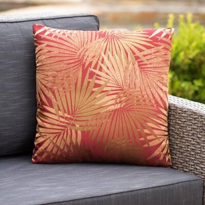 Coronado Red Outdoor Throw Pillow