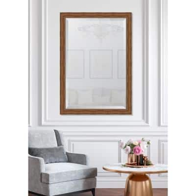 Large Rectangle Bronze Beveled Glass Contemporary Mirror (41 in. H x 29 in. W)