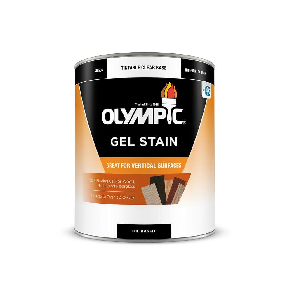 Olympic 1 Qt English Chestnut Semi Transparent Oil Based Interior Exterior Gel Stain Ois09g 04 The Home Depot