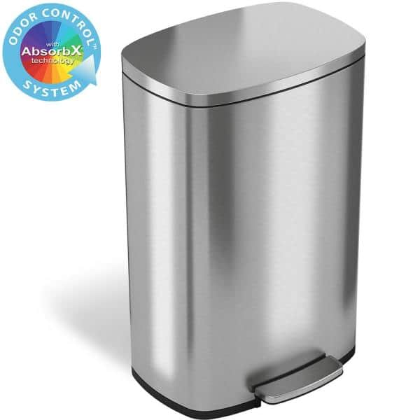 Stainless Steel Odor F iTouchless 13 Gallon Touchless Sensor Kitchen Trash Can