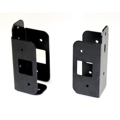Black Aluminum Fence Bracket Kit (6-Pack)