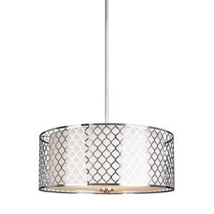 Jourdanton 3-Light Brushed Nickel Pendant Lighting