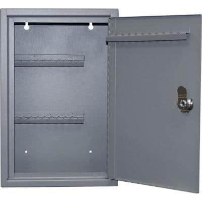 0.15 cu. ft. Steel Hook Design Key Cabinet in Gray