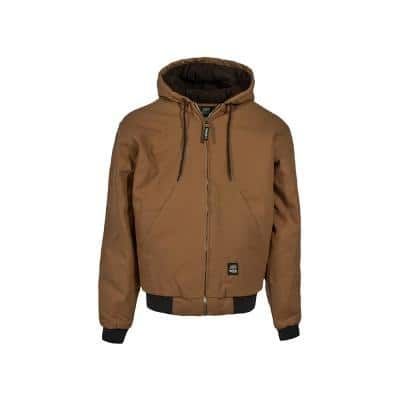 Men's Extra Small Regular Brown Duck 100% Cotton Original Hooded Jacket