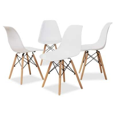 Jaspen White and Oak Brown Dining Chair (Set of 4)