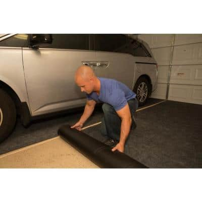 7 ft. 4 in. x 20 ft. Charcoal Grey Commercial Polyester Garage Flooring