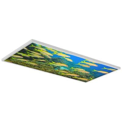 Ocean 005 2 ft. x 4 ft. Flexible Decorative Light Diffuser Panels Ocean for Classrooms and Offices