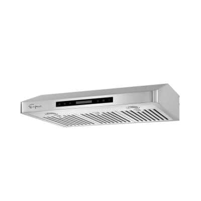 30 in. Ducted Under Cabinet Range Hood in Stainless Steel with Permanent Filters - Delay Shut-Off