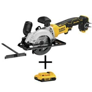 ATOMIC 20-Volt MAX Cordless Brushless 4-1/2 in. Circular Saw with (1) 20-Volt Battery 2.0Ah