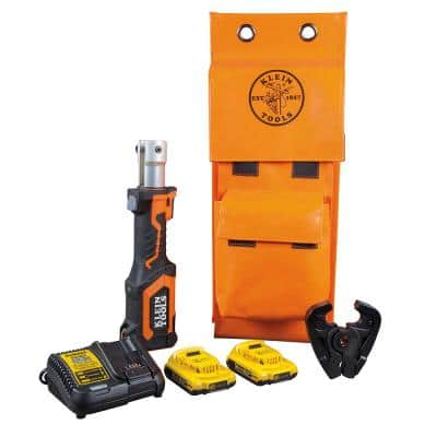 Battery-Operated D3 Groove Crimper with Two 2 Ah Batteries Charger and Bag