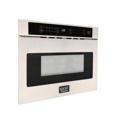 24 in. 1.2 cu. ft. Built-In Microwave Drawer in Stainless Steel with Sensor Cooking