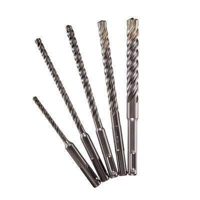 4-Cutter SDS-Plus Carbide Hammer Drill Bit Kit (5-Piece)